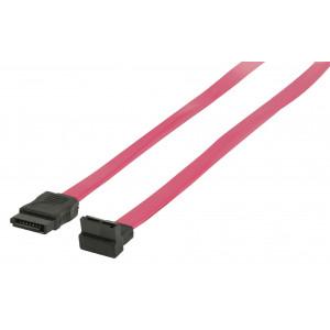 S-ATA II 3GB/S vinklad datakabel 0,50 m