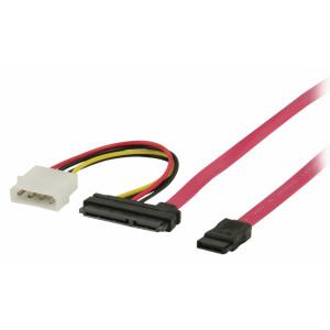 S-ATA II 3GB/S datakabel med nätanslutning 1,00 m