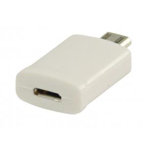 MHL redukce, 11-pin zástrčka USB micro B - 5-pin zásuvka USB micro B, bílá