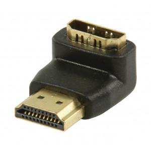 Adaptér HDMI™ s konektory 90° úhlový HDMI™ – HDMI™ vstup, černý