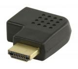 Adaptér HDMI™ s konektory HDMI™ úhlový pravý – HDMI™ vstup, černý