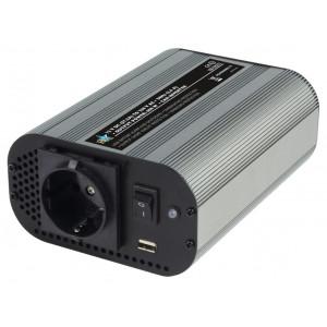 Měnič napětí s modifikovanou sinusovkou 12 - 230 V 600 W + USB