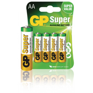 Battery alkaline AA/LR6 1.5 V Super 4-blister