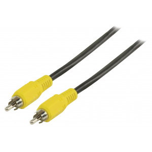 Kompozitní video kabel s konektory RCA zástrčka – RCA zástrčka 3,00 m černý