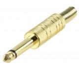 6.35 mm mono jack plug