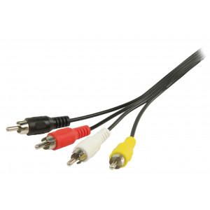 AV kabel s konektory 4x RCA zástrčka – 4x RCA zástrčka 2,00 m černý