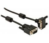 Kabel VGA, zástrčka - zástrčka úhlová 90°, 2,00 m, černý