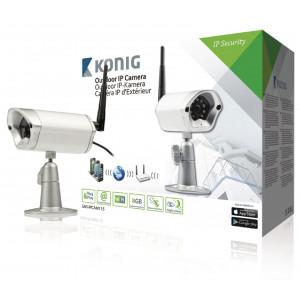 Exteriérová IP kamera pro vzdálené sledování, stříbrná