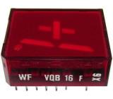VQB16F zobrazovač +1., červený, RFT
