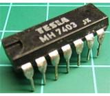 7403 4x 2vstup NAND /MH7403S/, DIL14