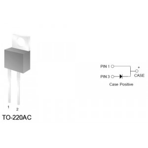 FES16JT dioda rychlá 600V/16A/55ns TO220AC