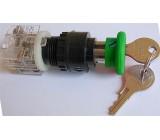 Tlačítko se zámkem ENERGOINVEST zelené, 230V/5A