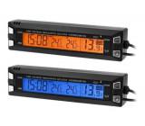 Digitální teploměr, hodiny, voltmetr do automobilu 3v1, 12V