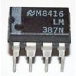 LM387N 2xNF zesilovač UCC=9-40V
