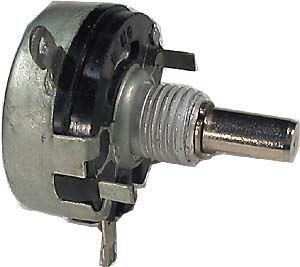 Potenciometr ruský 47k/N prům.28mm,hřídel 6x12mm