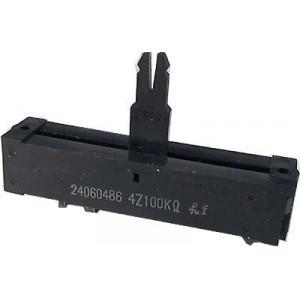 Potenciometr tahový NOBLE 100k/G 60x13x12mm