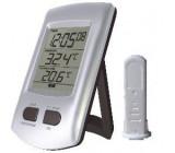 Teploměr bezdrátový IN/OUT+hodiny DCF WH0204