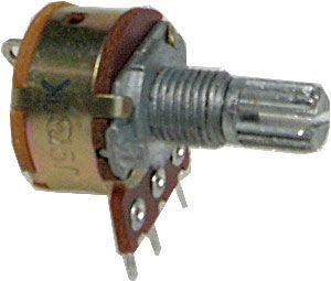 10k/G hřídel 6x13mm, potenciometr otočný s vypínačem