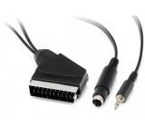 Kabel scart-S VHS+Jack 3,5 stereo 12m DOPRODEJ