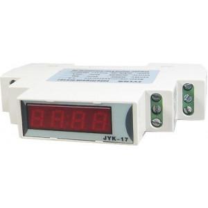 JYK-17-V/Ametr LED 500V~/100A~ na DIN lištu, napájení 8-12V~=