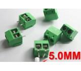 Svorkovnice do plošného spoje 2PIN zelená 5mm spojovatelná