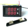 LED digitální voltmetr s ampérmetrem a bočníkem 100VDC 50A