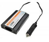 Měnič napětí - inventor 12V, USB 1000mA, plastový, černý, max. zatížení: 130W