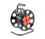 Navíjecí buben pro kabel se zásuvkou, s uzemněním Zásuvky:4