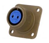 Konektor vojenský Řada:97 zásuvka zásuvka PIN:2 stříbřený