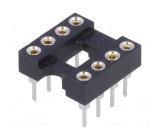 Patice DIP 8 PIN 7,62mm zlacený polyester UL94V-0 1A THT
