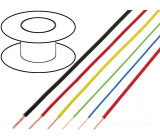 Kabel FLRY licna CU 0,5mm2 PVC modro-bílá 60V