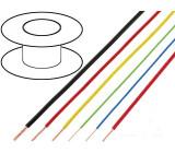 Kabel FLRY licna CU 0,5mm2 PVC fialově-černá 60V