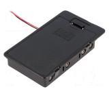 Pouzdro bateriové AA, R6 Počet čl:6 s vodičem barva černá 150mm