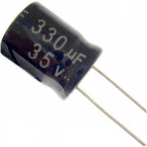 330u/35V 105° 10x13x5mm, elektrolyt.kondenzátor radiální