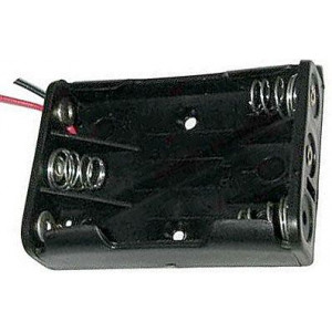 Držák baterie 3xR03/AAA/UM4 s vývody 15cm