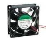 Ventilátor 12VDC 70x70x25mm 83,25m3/h 45dBA kuličkové