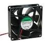 Ventilátor 48VDC 80x80x25mm 101,94m3/h 47,5dBA kuličkové