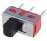 Přepínač posuvný 3 polohy SP3T 5A/120VAC 5A/28VDC ON-OFF-ON