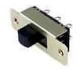 Přepínač posuvný 2 polohy DPDT 1A/24VDC ON-ON Poč.výv:6 6mm