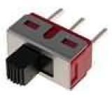 Přepínač posuvný 2 polohy SPDT 3A/250VAC 6A/28VDC ON-ON