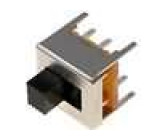 Přepínač posuvný 2 polohy DPDT 0,5A/50VDC ON-ON Montáž THT