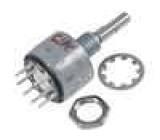 Přepínač otočný 5 poloh 0,15A/125VAC 0,15A/28VDC 36° L:10mm