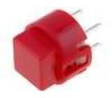 Mikrospínač 1-polohové SPST-NO 0,01A/35VDC THT 1,2N Ø12mm