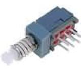 Mikrospínač 2 polohy DPDT 0,1A/30VDC THT 1N 8x9mm 10,8mm