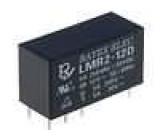 LMR2-12D Relé elektromagnetické DPDT Ucívky:12VDC 5A/250VAC 5A/30VDC