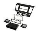 Rámeček pro autorádio 2 DIN / 2 ISO Mitsubishi Lancer 2008->2010 černá