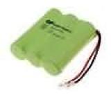 Akumulátor - baterie Ni-MH 3xAA 3,6V 600mAh 44x50x15mm