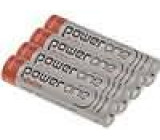 Baterie alkalická 1,5V AAA Power One Ø10,5x44,5mm 1200mAh