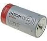 Baterie alkalická 1,5V C Power One Ø26,2x50mm 7800mAh