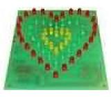 ZSM-95 Elektronická stavebnice pro samostatné sestavení blikající srdce